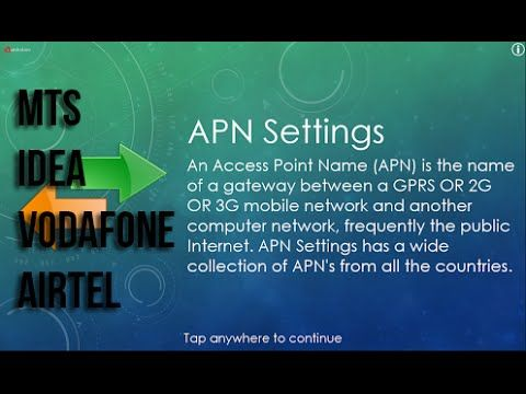 VODAFONE, IDEA, AIRTEL, MTS APN SETTINGS | MOBILE | Desktop