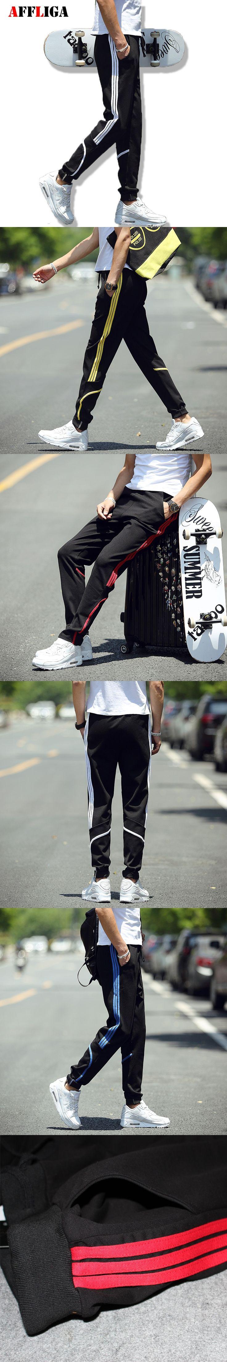 Fashion 2017 New Sweatpants Harem Pants Men Joggers Mens Stripe Cargo Pants New Skateboard Casual Jogger Sporting Pantalon Homme