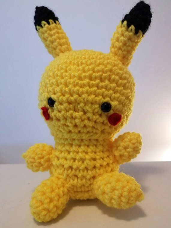 Check out this item in my Etsy shop https://www.etsy.com/listing/492861795/crochet-pikachu-pokemon-stuffed-toy