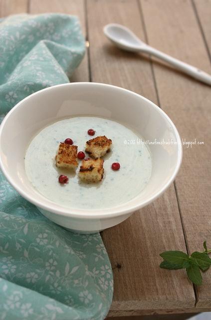 Crema di patate allo yogurt e menta