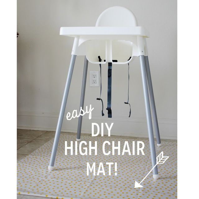 Easy and inexpensive DIY highchair mat