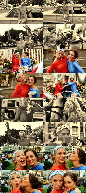 "Serena van der Woodsen and Blair Waldorf's happy snaps in the episode ""Bad News Blair""......"