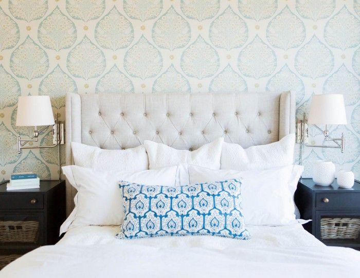 Lotus Wallpaper in Aqua | Galbraith & Paul