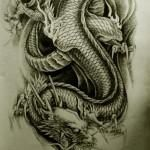 Oriental Dragon Tattoo Style (29)