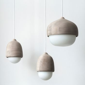 Mater's beautiful Terho pendant lights were designed by Finnish Maija Puoskari. She often draws her inspiration from nature, which is evident in the organic form of Terho, Finnish for acorn.