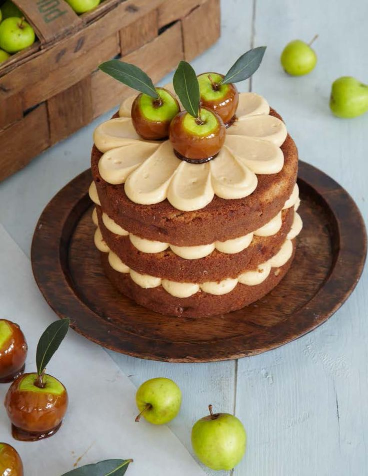The delectable Toffee Apple Cake from Love Layer Cakes by Peggy Porschen!