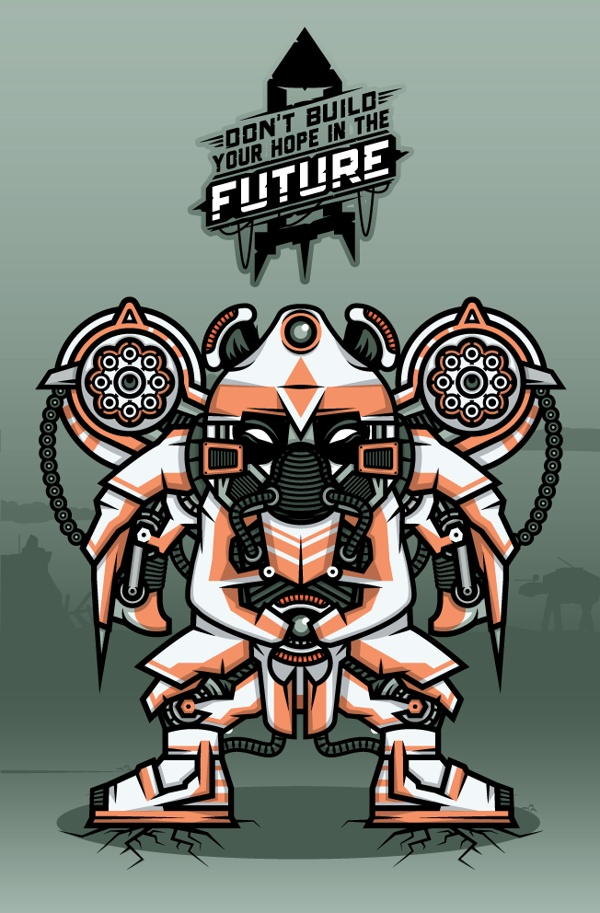 """""""DOKU"""" The Giant Panda  ROBOT  Don't build your hope in the future"""
