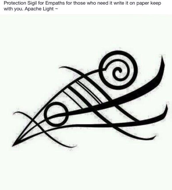 Empathy sigil | Magick symbols | Empath symbol, Protection symbols