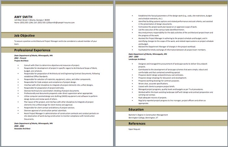 Project Architect Resume Architect Resume Samples Pinterest - army recruiter resume