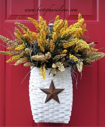 Spring Wreath - Front Door Basket - Under the Table and Dreaming
