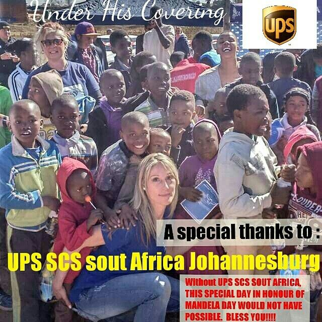 Under His Covering in collaboration with UPS SCS SOUTH-AFRICA