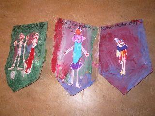 jufjanneke.nl - Ridders, jonkvrouwen en kastelen schild verven en ridder of jonkvrouw erop plakken
