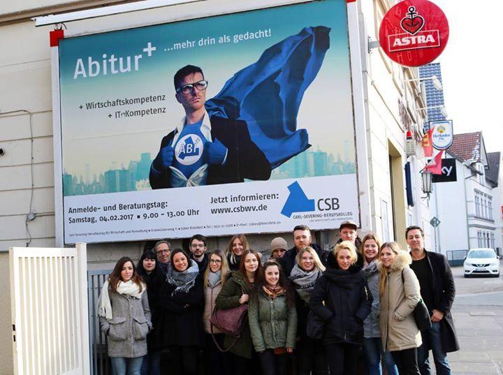 Jacquelines Berufsschulklasse hat eine Werbekampagne für das Berufliche Gymnasium des Carl-Severing-Berufskolleg für Wirtschaft und Verwaltung in Bielefeld entwickelt. Schaut doch mal rein! :)  http://ift.tt/2lBWkDA