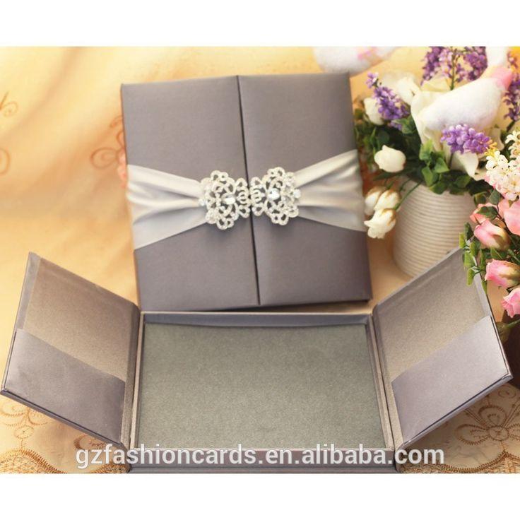 Source Luxury Wedding Invitation Card Silk Box