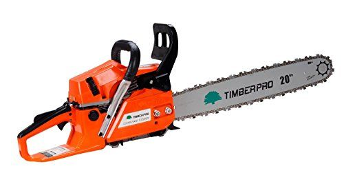 """TIMBERPRO 58cc 20"""" Petrol Chainsaw with 2 Chains, Carry Bag and Accessories"""