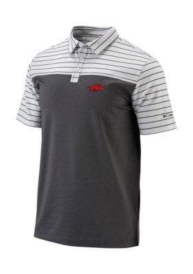 Outdoor Custom Sportswear Arkansas Razorbacks Short Sleeve Groove Polo - White - 2Xl