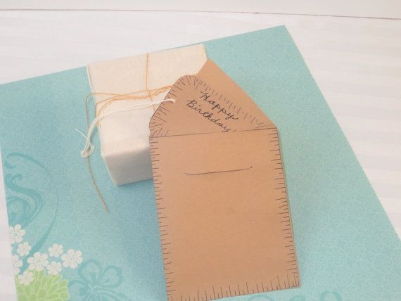Birch Bark Design Gift Card and Envelope on Brown by GoGoGrannys, $10.95