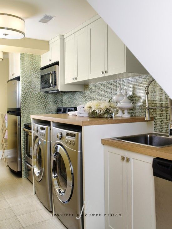 17 best images about washer dryer ideas on pinterest for Washer and dryer in kitchen ideas
