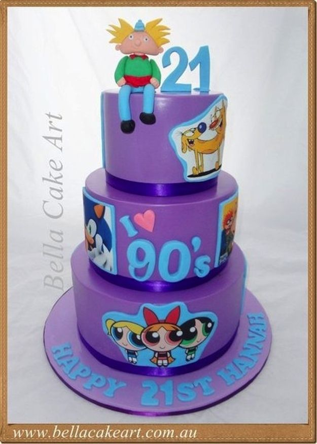 50 awesome 39 90s themed cakes and cupcakes for 90 s decoration ideas