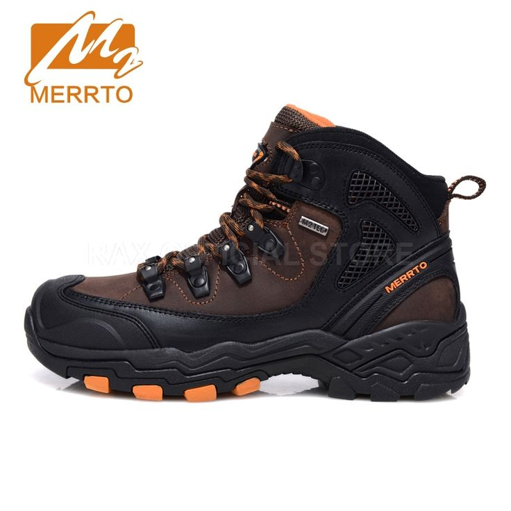 Merrto Outdoor Waterproof Hiking Boots For Men Breathable Shoes Hiking Genuinle Leather Trekking Boots Outdoor Sports Shoes Men  #Affiliate