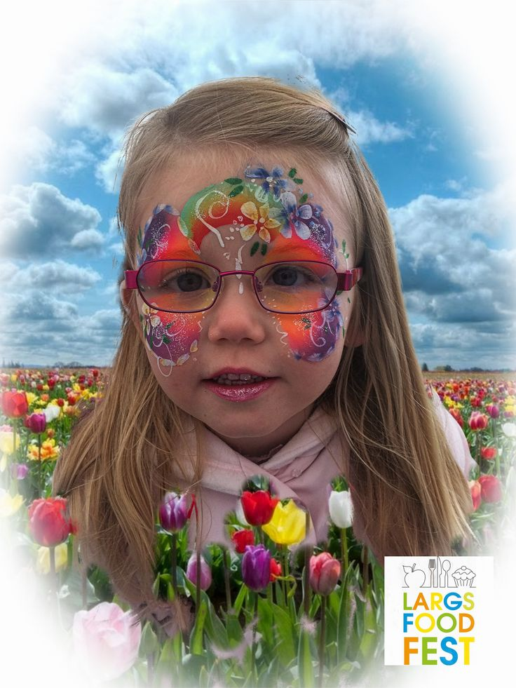 Fun face painting for children visiting Largs Food Festival in May 2015