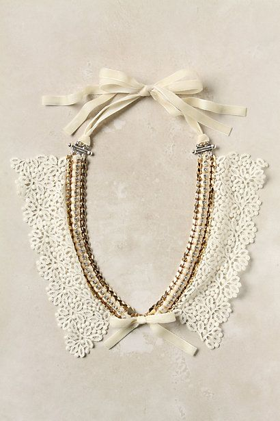 Chained Lace Bib #anthropologie