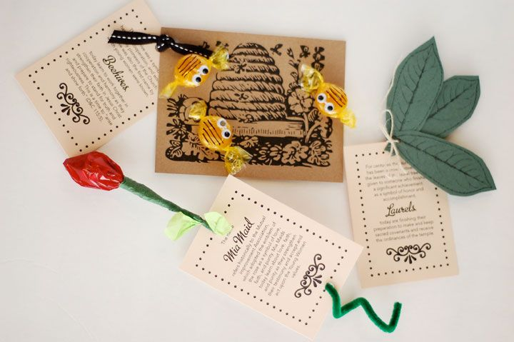 Yw Class Symbol Gifts - download LDS printables, object lessons, activity ideas, and teaching tips at Mormon Share.