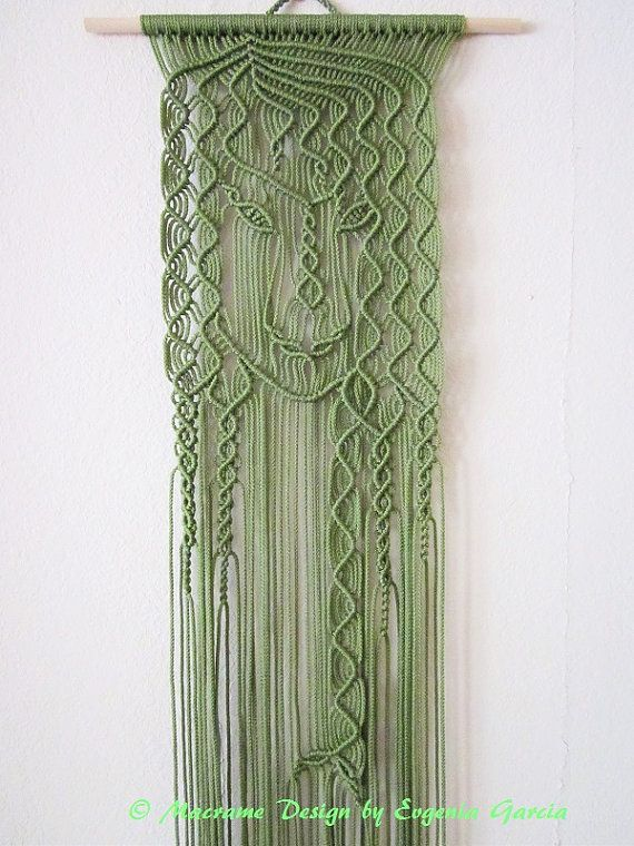 Macrame wall hanging mermaid handmade macrame home by for Colgadores para cortinas