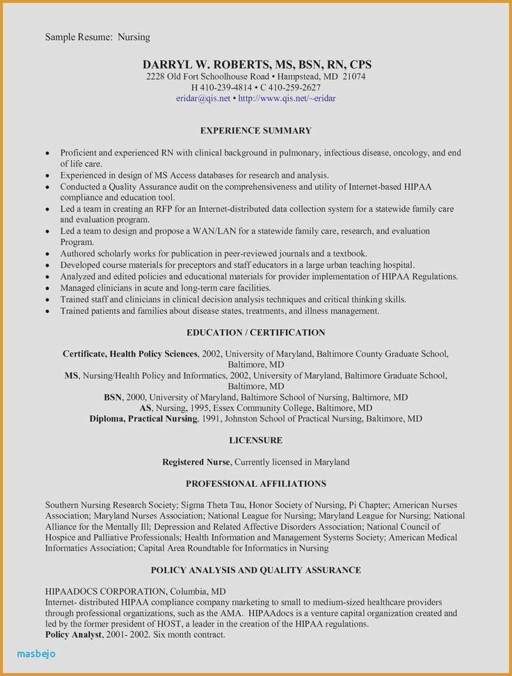 32 Lovely New Grad Rn Resume in 2020 Nursing resume, Rn