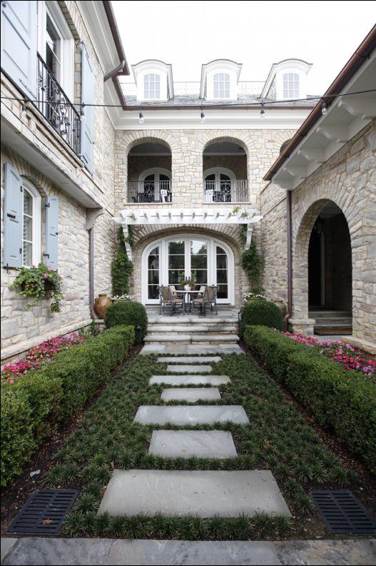 European inspired courtyard...