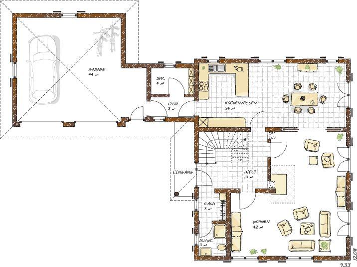 Kundenhaus Lindau Grundriss Erdgeschoss Haus grundriss