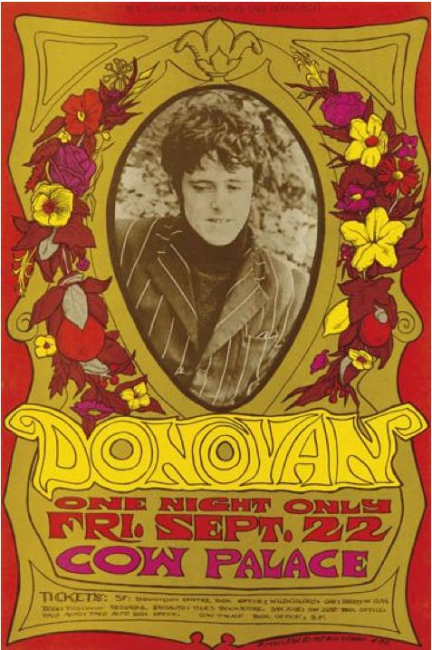 Poster by Bonnie Maclean, 1967, Donovan