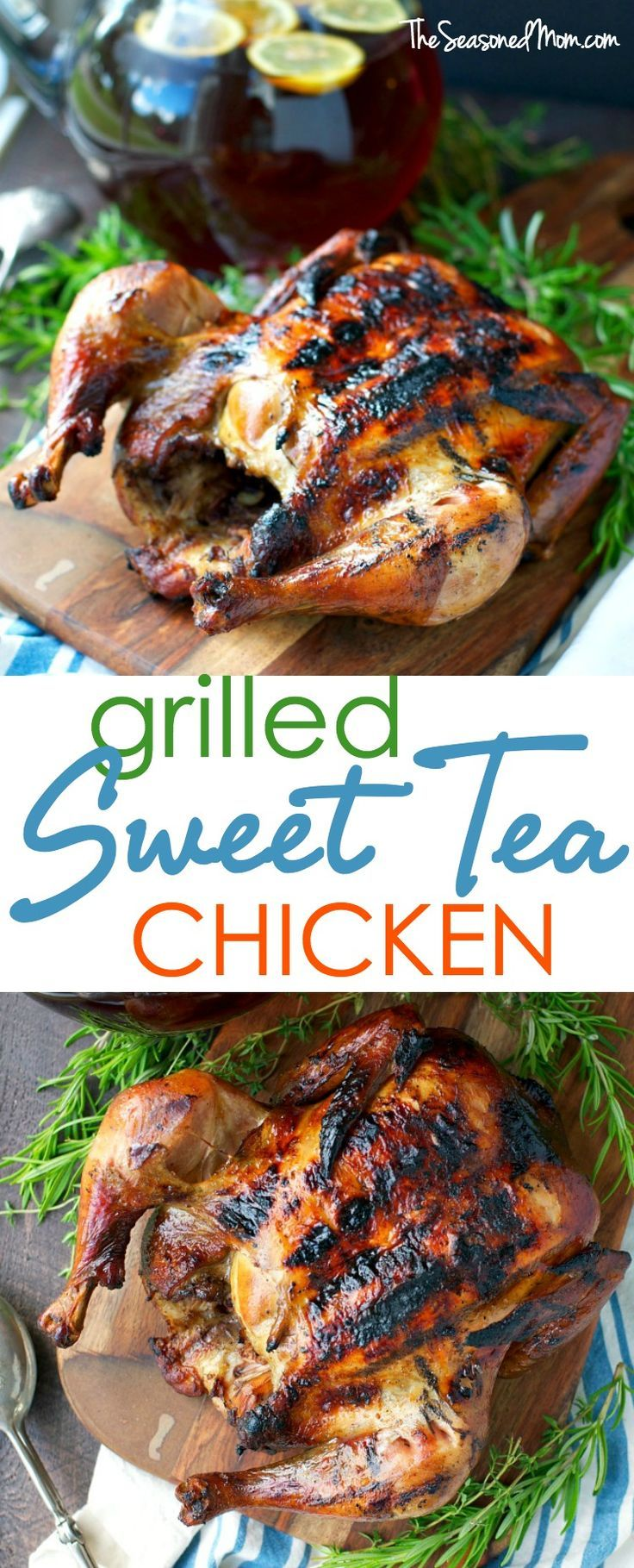 Grilled Sweet Tea Chicken is an easy Southern dinner to throw on the grill for your next cookout! #BrightBites #ad