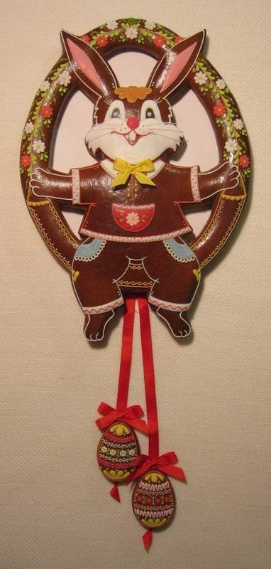 PETER COTTONTAIL~GINGERBREAD BUNNY WREATH