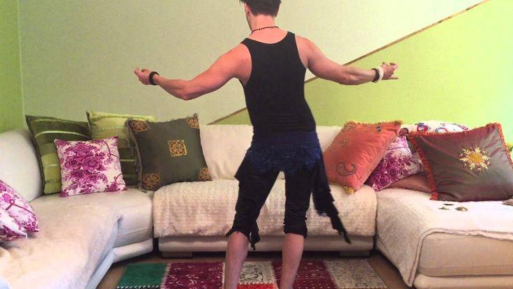 Bauchtanz Lernen/Learn Belly Dance Circle Arabesque with Drop Kick combi...