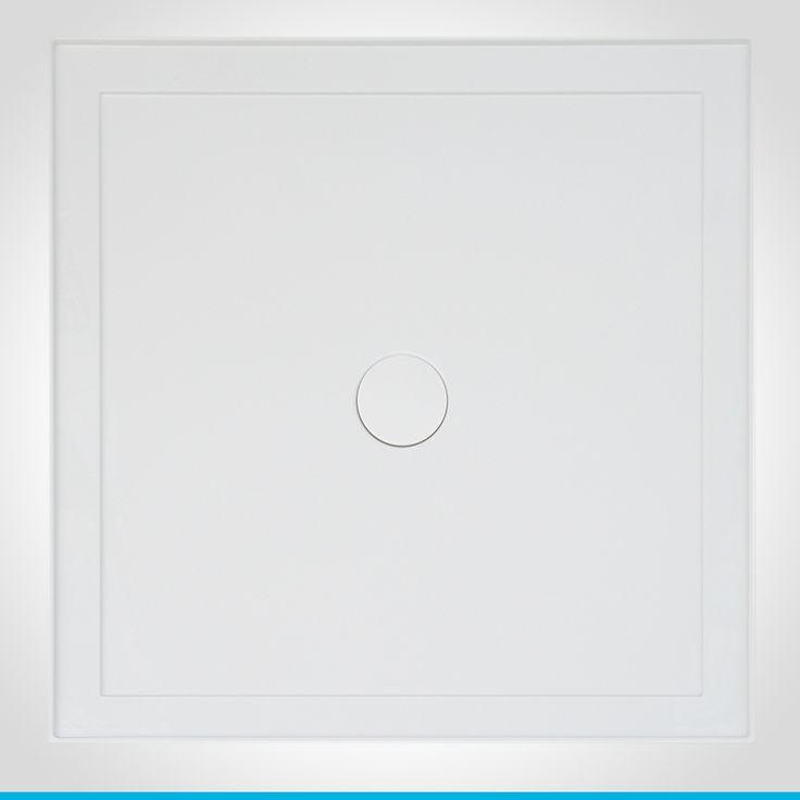 Resonance 900mm white shower base C/O