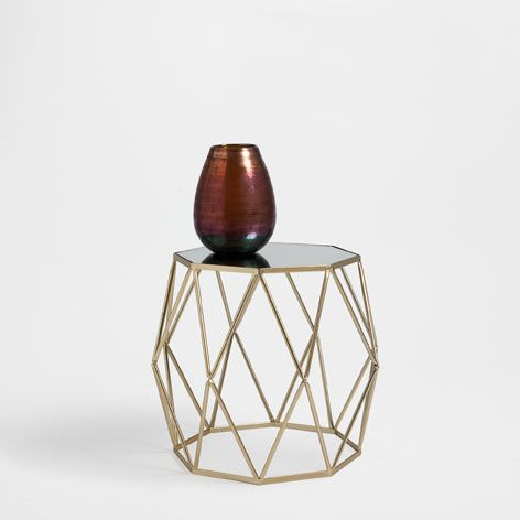 GOLDEN OCTAGONAL TABLE - Occasional Furniture - Decoration | Zara Home Turkey