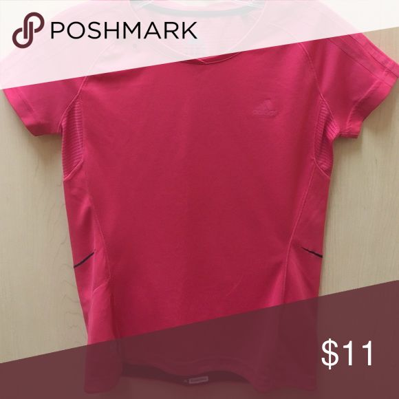 Pink Adidas workout shirt Pink Adidas workout Tshirt barely worn good condition Adidas Tops Tees - Short Sleeve