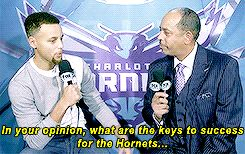 gswarriorss:  Stephen Curry interviews father Dell in Charlotte - http://gswteamstore.com/2016/01/21/gswarriorssstephen-curry-interviews-father-dell-in-charlotte/