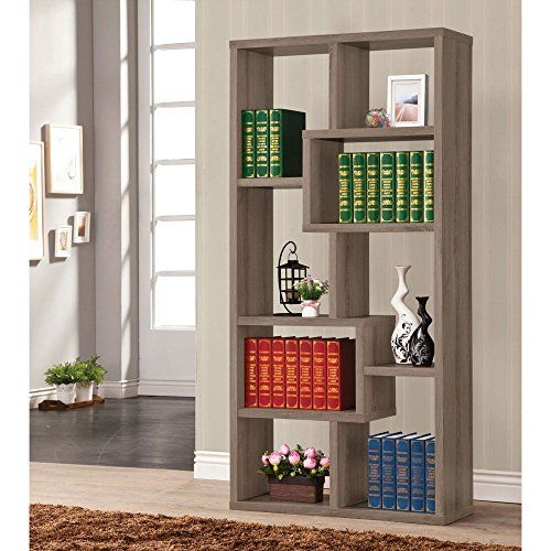 Coaster Furniture Weathered Gray Bookcase
