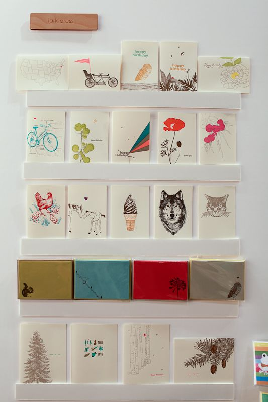 National Stationery Show 2012: Lark Press, Crow and Canary   Photo Credit: Oh So Beautiful Paper