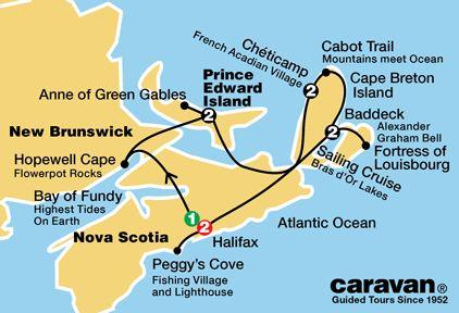 Nova Scotia Tour Map