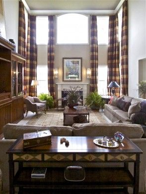 Window Treatment For High Ceiling Living Room