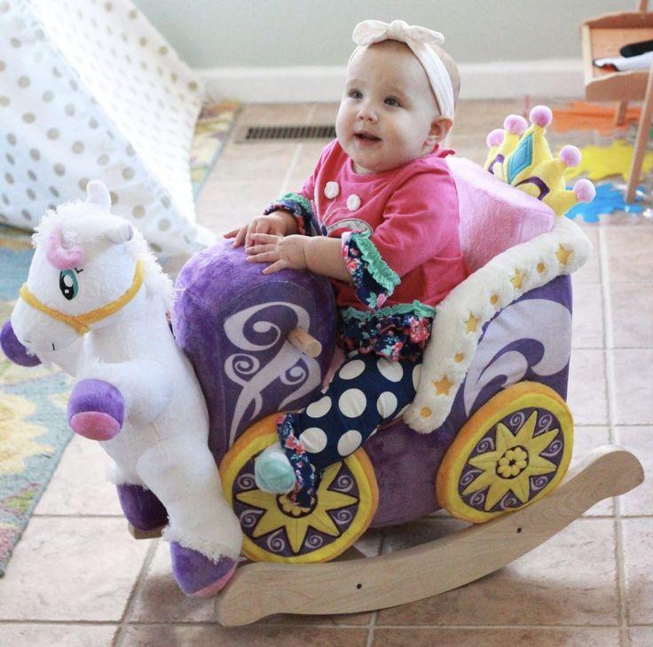 Princess Carriage Rocker for babies - adorable! #toys