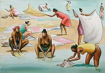 Lavadeiras de Caribé- Elfi Kürten Fenske: Carybé (Hector Julio Páride Bernabó) - A arte e a paixão pela Bahia
