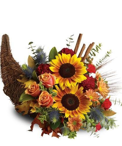 Best cornucopia centerpieces images on pinterest