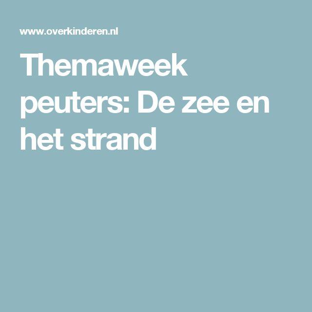 Themaweek peuters: De zee en het strand