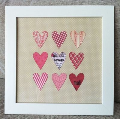 . (spotted by @Darnellqjr354 ): Crafts Ideas, Fabrics Heart, Heart Art, Valentines Day, Scrapbook Paper, Love Heart, Heart Pictures, A Frames, Heart Frames