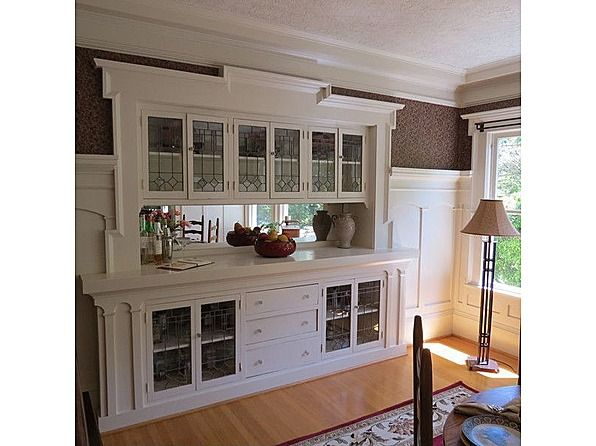 Irvington home dining rooms bungalow homes and bungalows - Dining room built ins ...