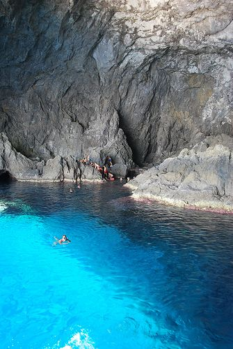 Beautiful blue water, Hytra's cave ~ Kythira, Greece